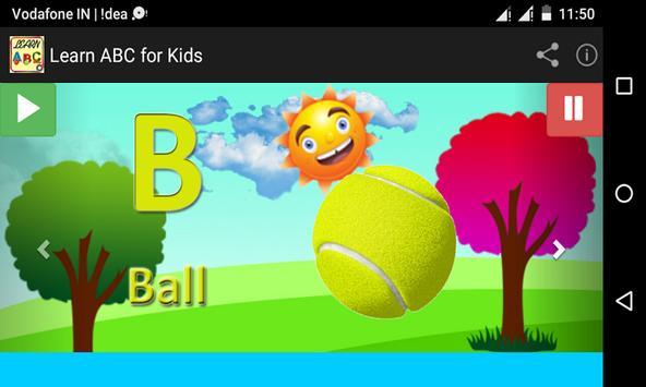Learn ABC for Kids apk screenshot