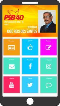 Vereador José Reis dos Santos poster