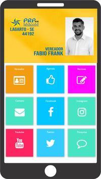 Vereador Fabio Frank poster