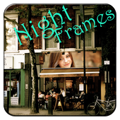 Night photograph frames icon