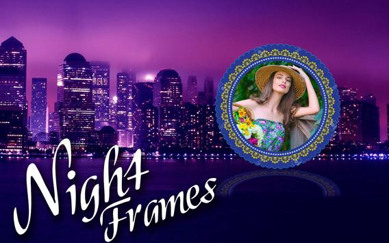Night photograph frames poster