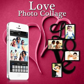 Love Collage Photo Frame poster
