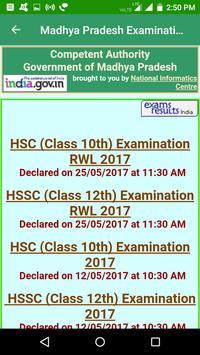 2018 Madhya Pradesh Exam Results - All Exam screenshot 1