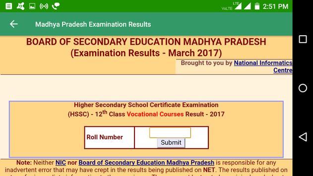 2018 Madhya Pradesh Exam Results - All Exam screenshot 4