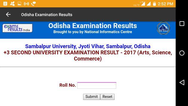 2018 Odisha Exam Results - All Examination apk screenshot