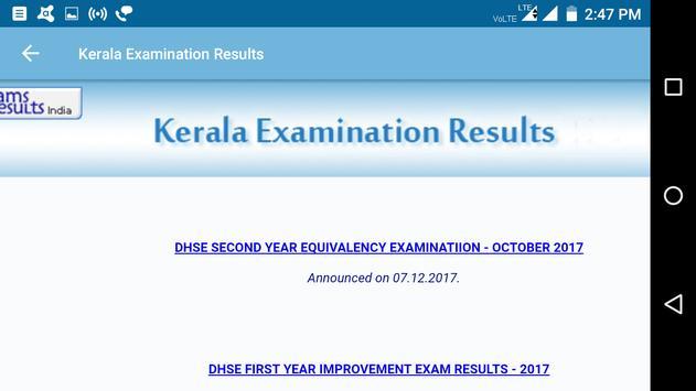 2018 Kerala Exam Results - All Exam screenshot 6