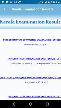 2018 Kerala Exam Results - All Exam screenshot 1