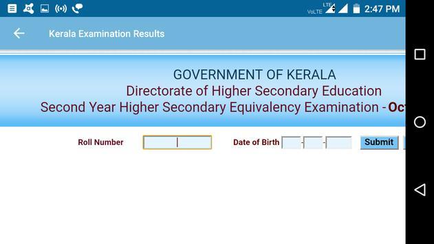 2018 Kerala Exam Results - All Exam screenshot 3