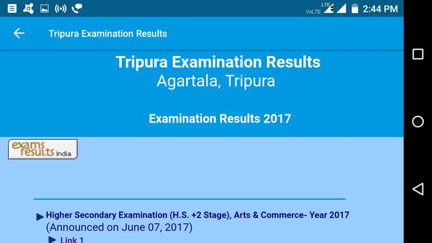 2018 Tripura Exam Results - All Examination screenshot 3