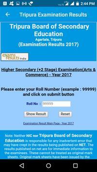 2018 Tripura Exam Results - All Examination screenshot 2