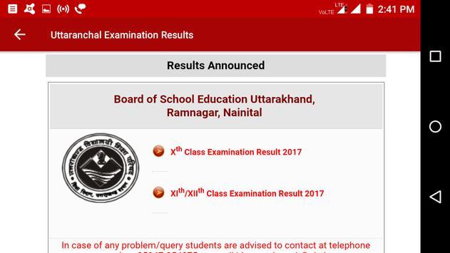 2018 Uttaranchal Exam Results - All Examination screenshot 2