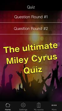 Quiz for Miley Cyrus poster
