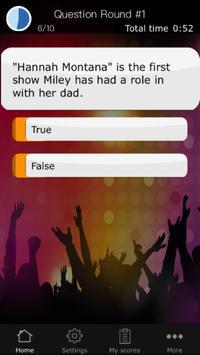 Quiz for Miley Cyrus apk screenshot