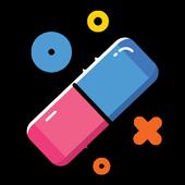 """Rubber: erase """"running in the background"""" notifs icon"""