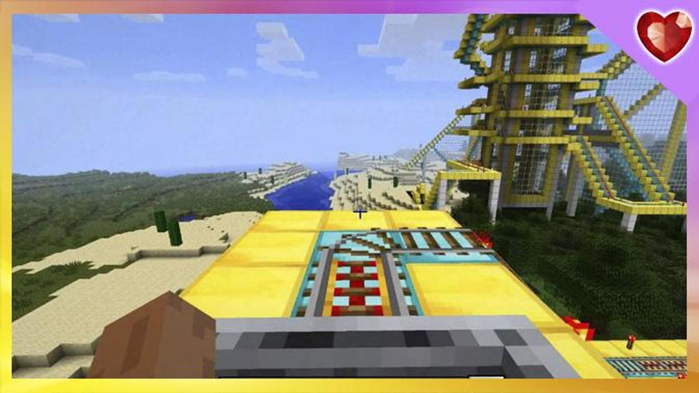 minecraft pe roller coaster map