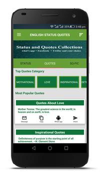 Material Status and Quotes apk screenshot