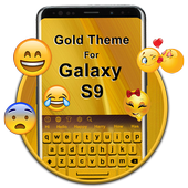 Gold Keyboard Theme for Galaxy S9 icon