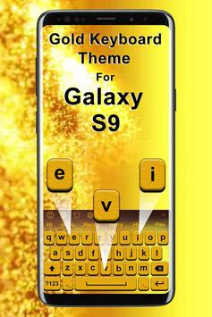 Gold Keyboard Theme for Galaxy S9 poster