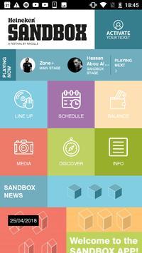 Sandbox Festival poster