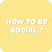 How To be social ! icon