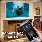 Remote Control for all TV Prank icon