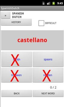 Dutch Spanish Dictionary apk screenshot