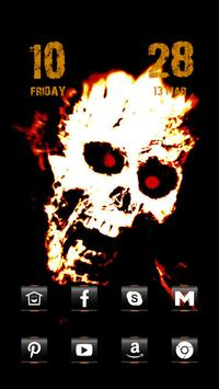 Angry Skeleton Head poster