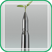Bullets and Green Leaves icon