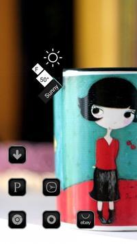 the Lovely Cartoon Girl Theme screenshot 1