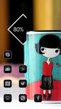 the Lovely Cartoon Girl Theme screenshot 2