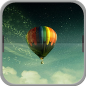 Colorful Hot Air Balloon icon