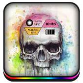 White Skull theme icon