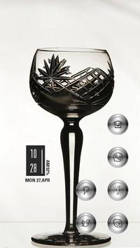 Elegant Wine Glass poster