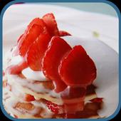 Tempting strawberry cake theme icon
