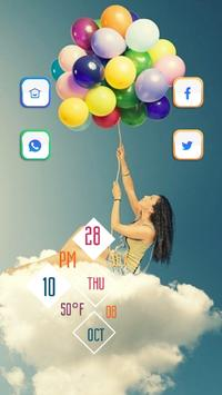 Girl and Clouds poster
