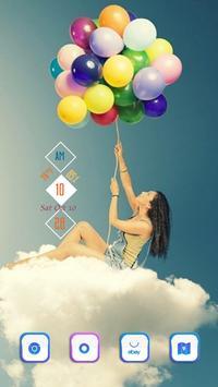 Girl and Clouds apk screenshot