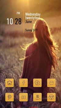 Girl in The Wheat Field poster