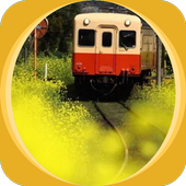 Little Red Train and Flower icon