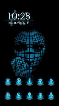 The Face Covered with a Grid poster