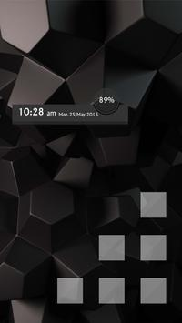 Simple black box Themes apk screenshot