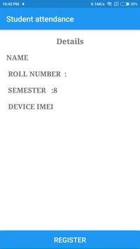 Paperless attendance system screenshot 1