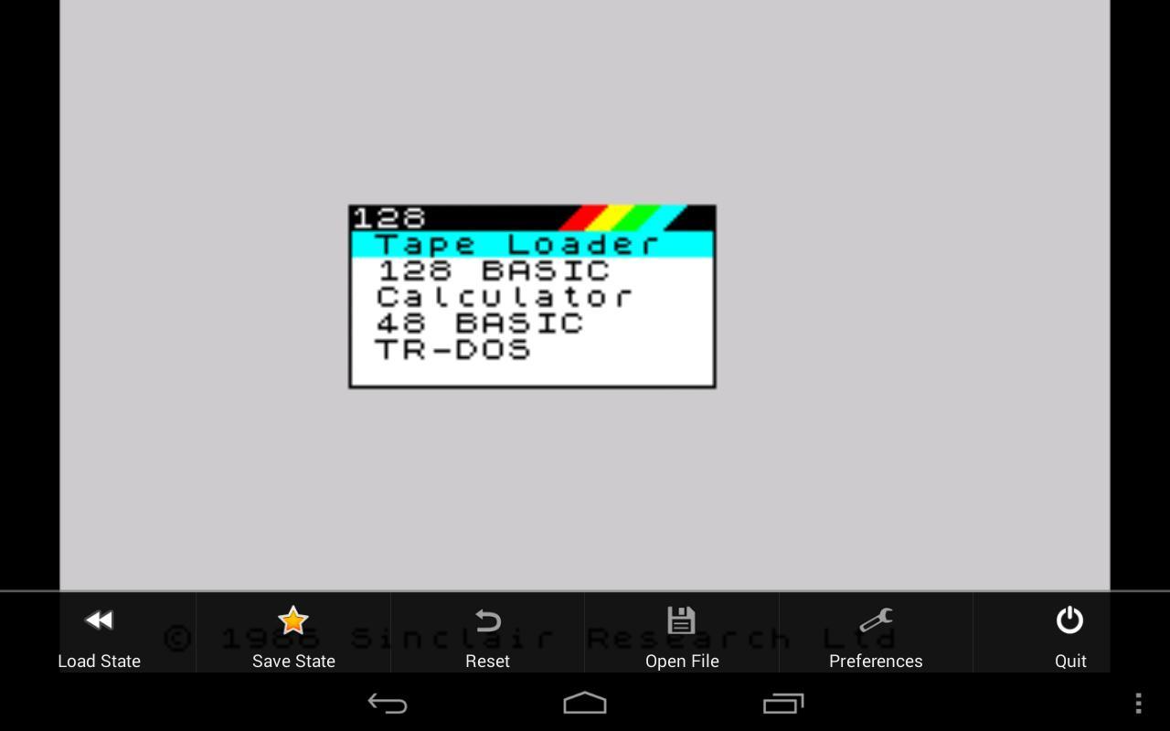 USP - ZX Spectrum Emulator for Android - APK Download