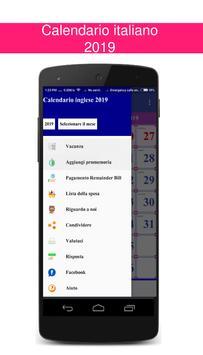 Calendario italiano 2019 screenshot 3
