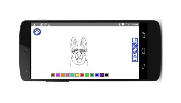 Krāsošana un zīmēšana apk screenshot