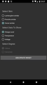 Battery Car Dashboard Widget apk screenshot