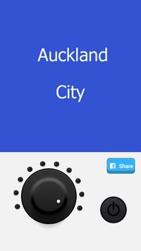 Auckland City led flashlight poster