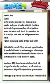 Trucos for Sims 4 screenshot 1