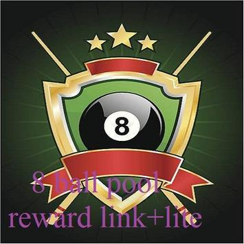 8 ball pool reward link+lite poster