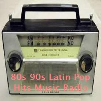 80s 90s Latin Pop Hits Music Radio poster