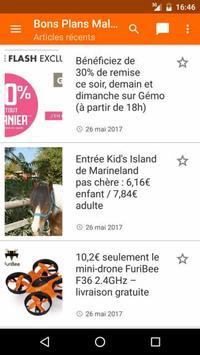 Bons Plans Malins apk screenshot